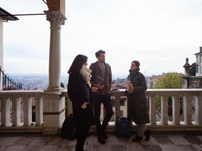 Casa dell'Arciprete - Terrace with students