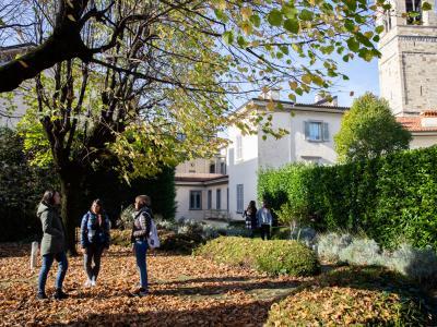 Rosate Campus internal garden